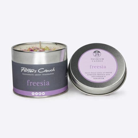 Freesia Scented Candle In A Tin